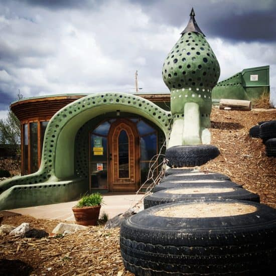Earthship Entrance